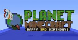 Happy B-Day PMC! (100% Hand made!) Minecraft Map & Project