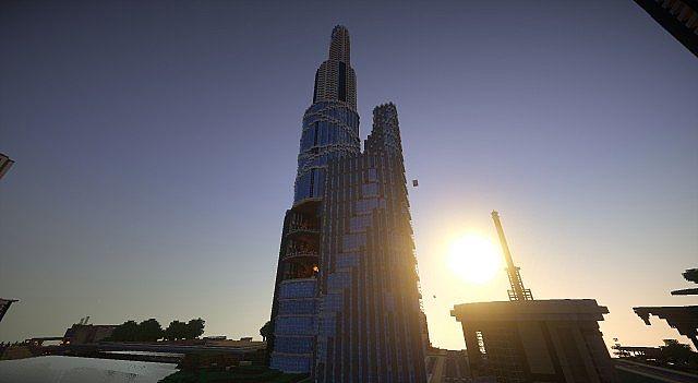 spindle a futuristic skyscraper minecraft project