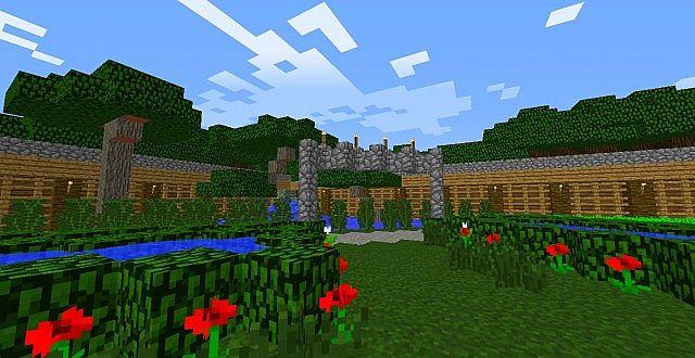 Peace garden 1 7 2 savecrafts minecraft project for Garden designs minecraft