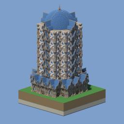 Big baroque tower Minecraft