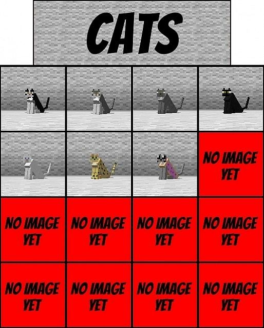 Minecraft Cat Breed Names