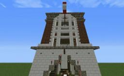 Minecraft -Ghostbusters Firehouse with schematic download Minecraft