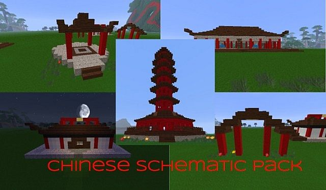 Chinese Schematic Pack Minecraft Project