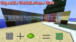 [1.6.4] [Forge] Dyeable Cobblestone v2.1.0 [Fixed] Minecraft