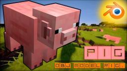 Pig - OBJ Model Rig [ More reliefs ] Minecraft Blog Post