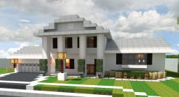Colonial-Style Split Level House Minecraft Map & Project