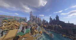""""""" Ville médiéval portuaire  - Medieval port city """" [In progress] Minecraft Map & Project"""