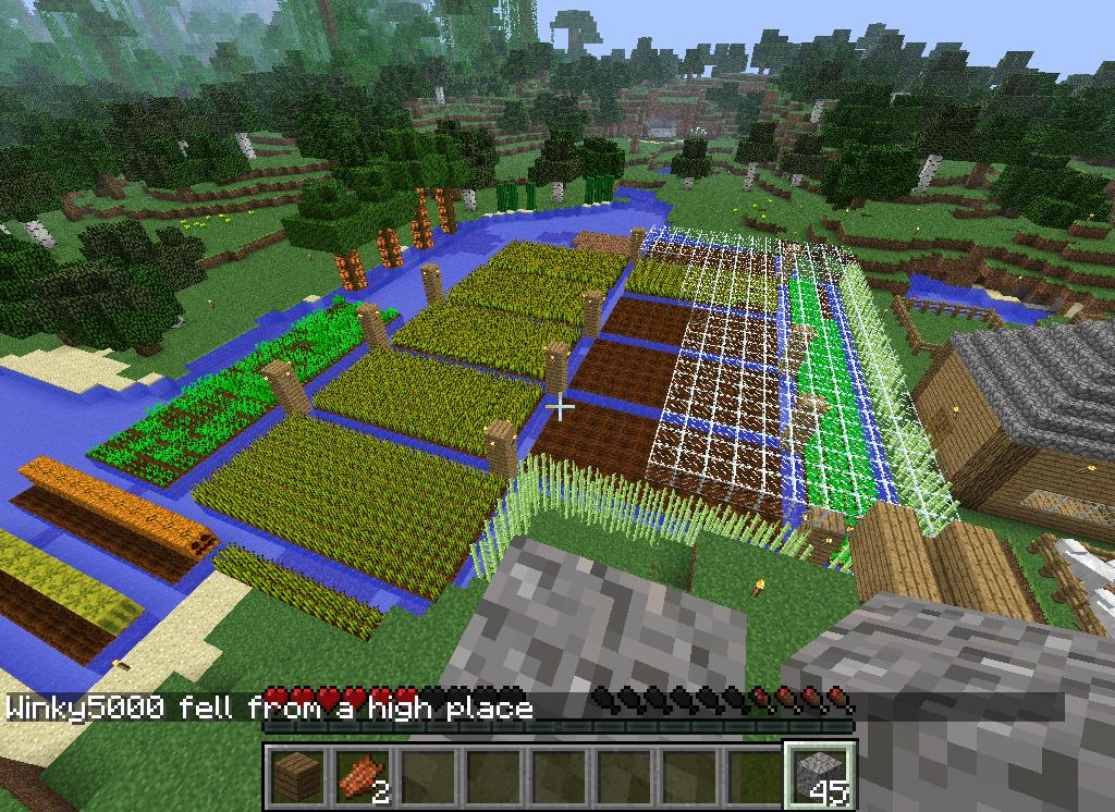 Aztec Style Farming Minecraft Project