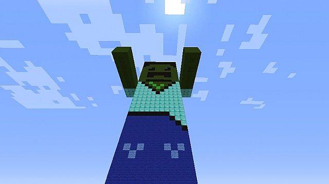 Zombie Head Creeper Minecraft Project