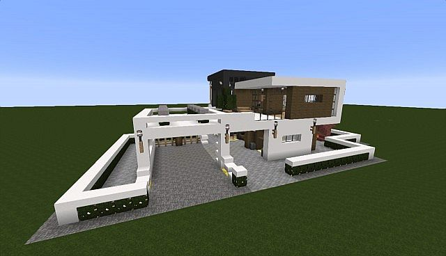 Modern house minecraft 1 7 2 minecraft project for Minecraft modernes haus download 1 7 2