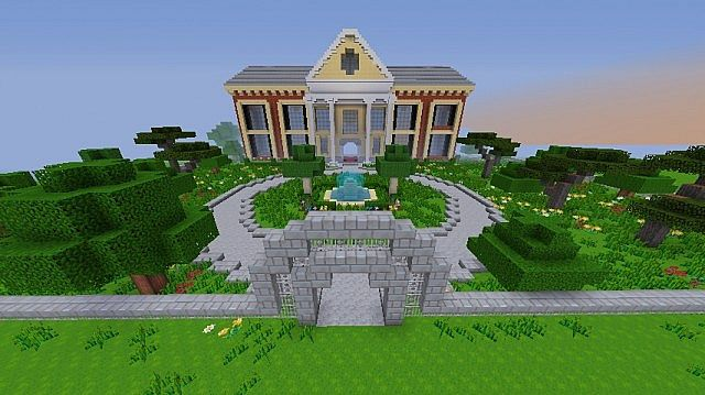 Huge modern mansion 1 7 2 minecraft project for Minecraft modern house download 1 8
