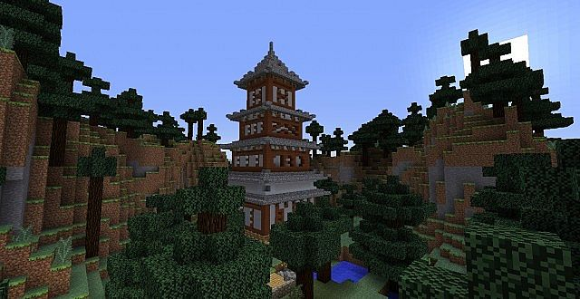 Minecraft Japanese Rock Garden japanese tower minecraft project