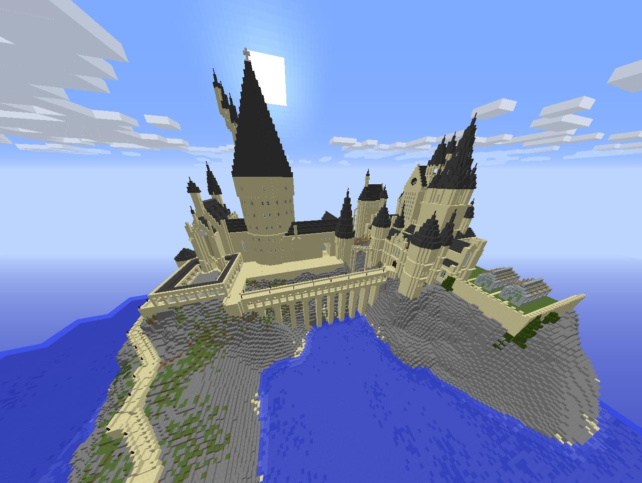 Hogwarts Castle Harry Potter 1.7.2 Minecraft Project