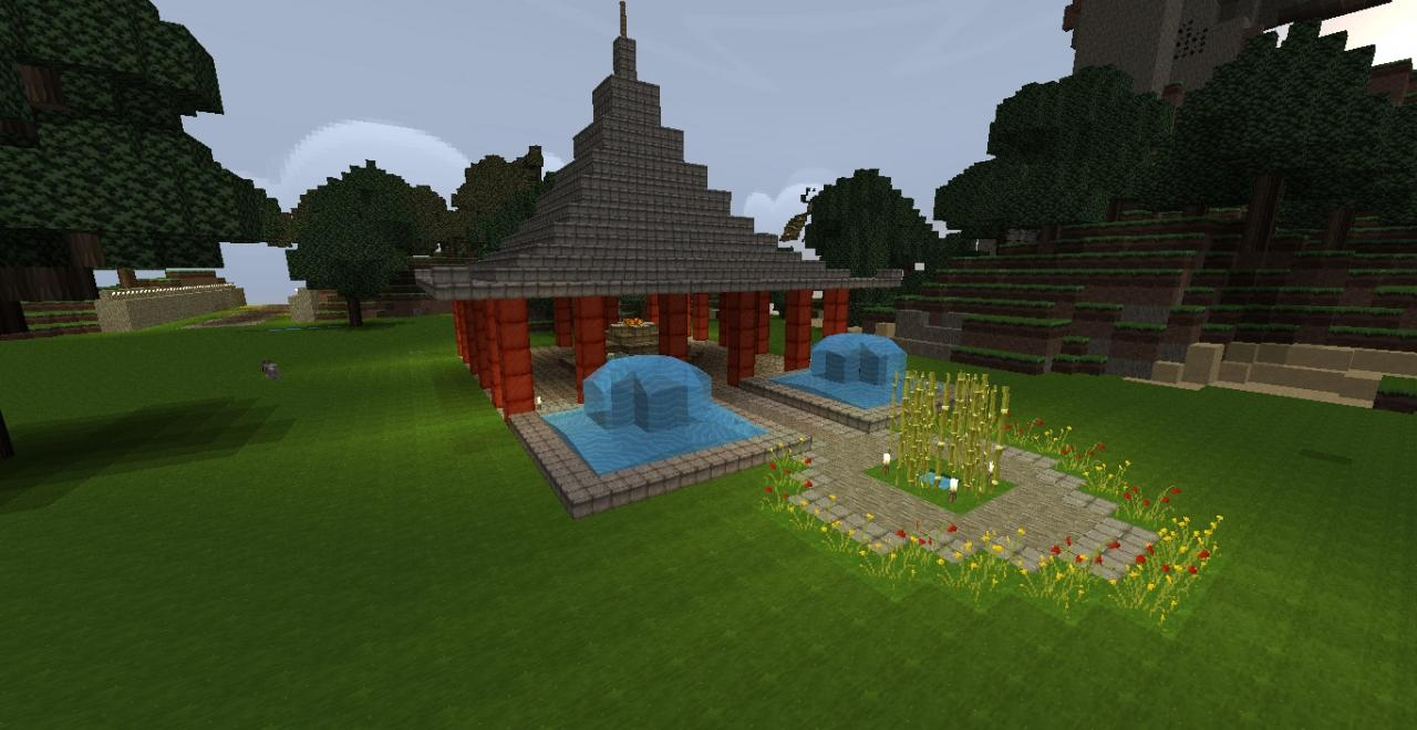 Japanese garden minecraft project for Garden designs minecraft
