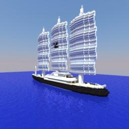 Maltese Falcon Sailing Yacht (1:1 Scale) Minecraft Map & Project