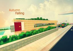 Autumn Falling - Modern Home Minecraft Map & Project