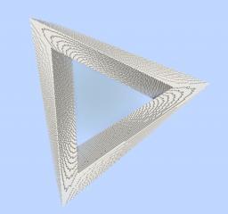 Penrose Triangle - Impossible Optical illusion