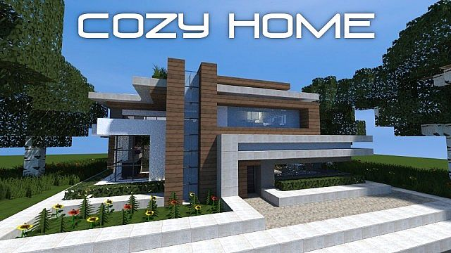 Cozy modern home minecraft project for Project modern house
