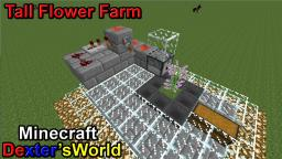 Simple Tall Flower Farm Minecraft Map & Project