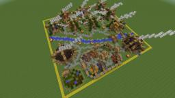 50x50 small town Minecraft Map & Project