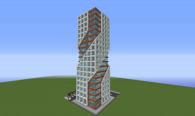 Modern tower minecraft project for Modern tower house designs