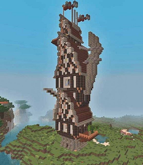 Steampunk Tower Silent Minecraft Project