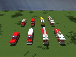 Lapiz Point's Vehicle pack - Fire Trucks [Realisitc] Minecraft Map & Project