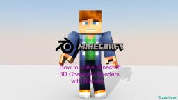How to Make Minecraft 3D Characters with Blender! Minecraft