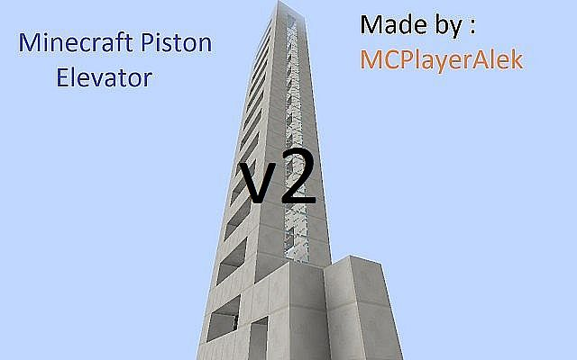 Piston Elevator V2 Minecraft Project