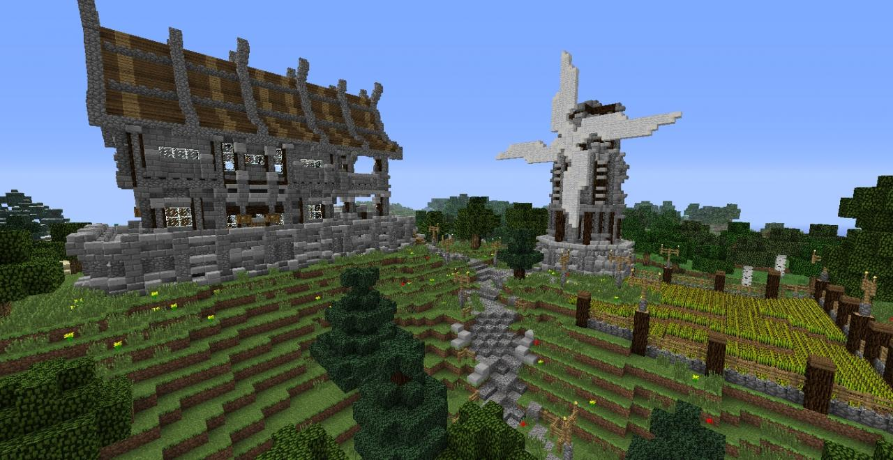 Quick build medieval house farm minecraft project - Quick built homes ...