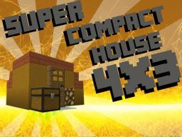 Super Compact House 4x3 Minecraft Map & Project