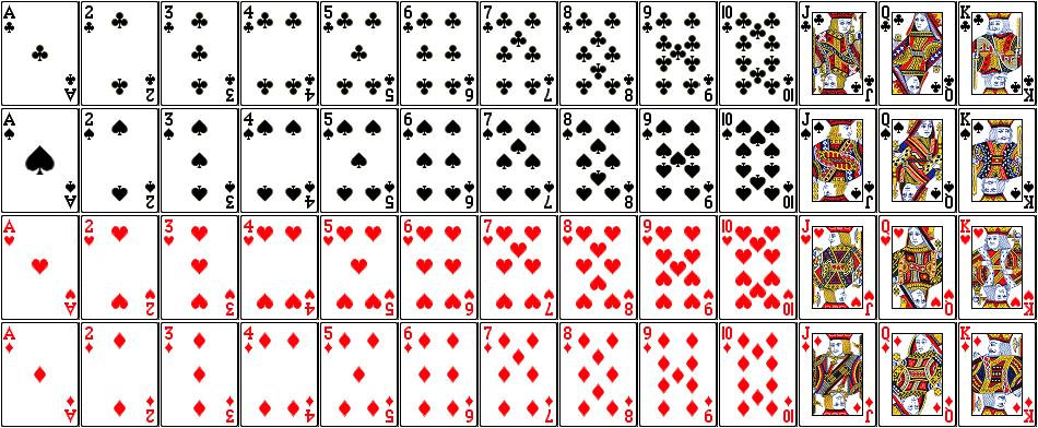 How many cards has a poker deck