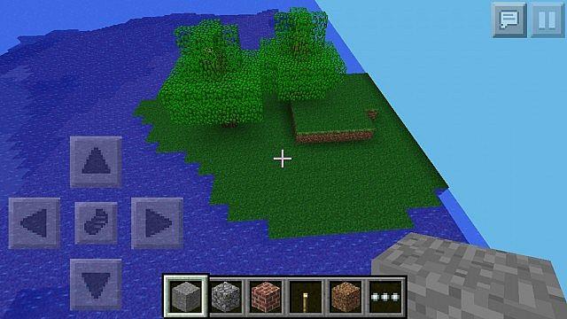 minecraft pe survival island map download