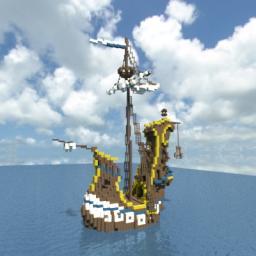 The seafoam - a fantasy Galleon Minecraft Map & Project