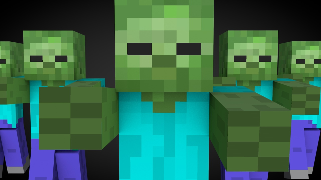 Minecraft People Building Gifs