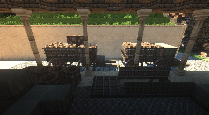 Medici Military Barracks - Provision receiving area for Basement Kitchen