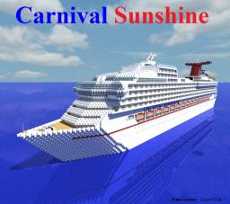Carnival Sunshine [1:1 Scale cruise ship!] Minecraft Map & Project