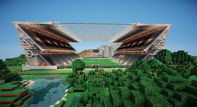 SC Braga: AXA Stadium (S.C. Braga) Minecraft Project