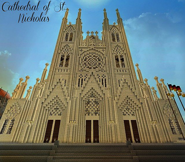 Giant Gothic Cathedral Of Saint Nicholas Minecraft Project
