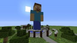 Steve Statue Spawn Minecraft Map & Project