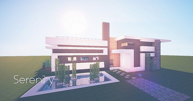 Serenity Modern Holiday Home Minecraft Project