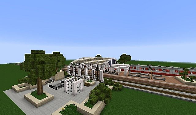Gallery For gt Modern Train Station Minecraft