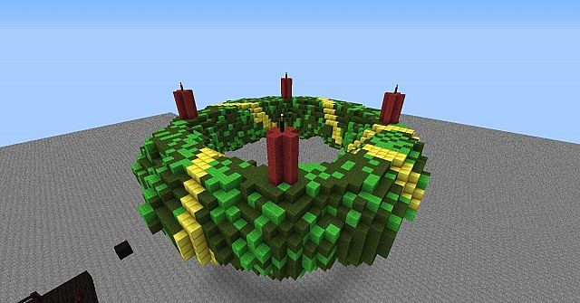 Minecraft 1 6 Advent Wreath Adventkranz Minecraft Project