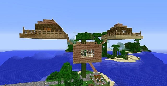 how to build a simple treehouse in minecraft
