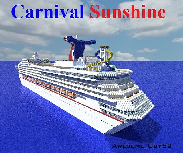 Carnival Sunshine 1 1 Scale Cruise Ship Minecraft Project