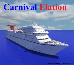 Carnival Elation [1:1 Scale Cruise Ship!] Minecraft Map & Project