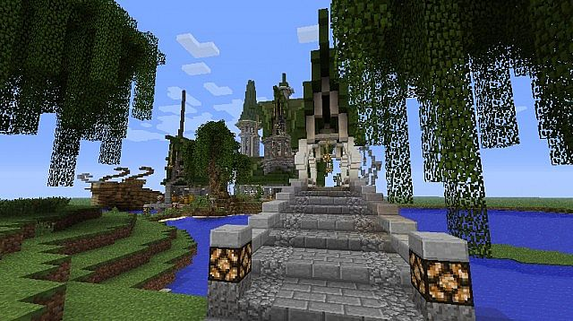 Fantasy and Realistic Simkraf World  Happy Minecrafting