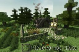 ♣ Medieval Hole House ♣ + Thank you! Minecraft Map & Project