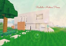 Realistic Modern Home Minecraft Map & Project