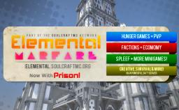 Elemental Warfare 1.7.4 [ Prison, Paintball, Survival, Creative, Hunger Games and More! ] Minecraft